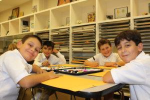 Grade 4 in Art class