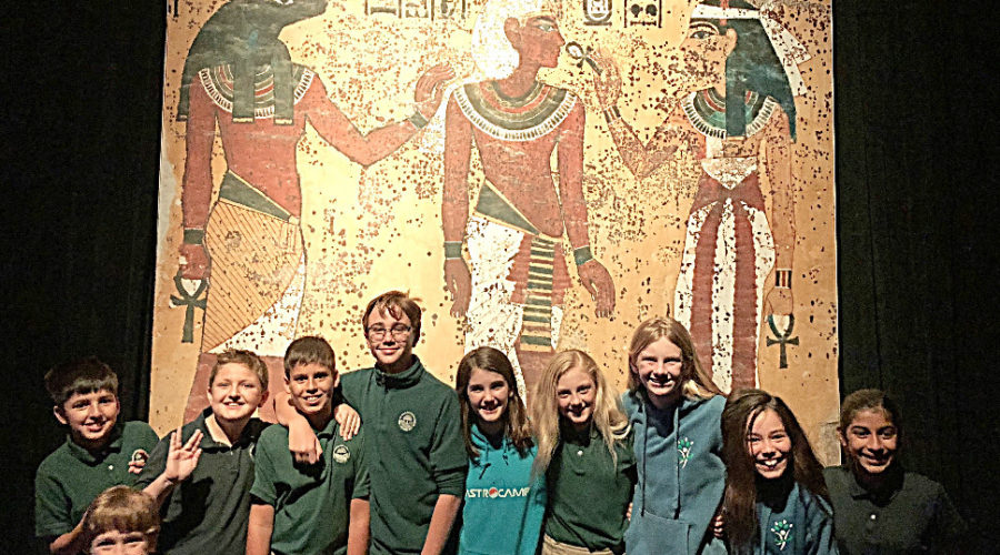 Grade 6 students enjoying learning about Egyptian history!