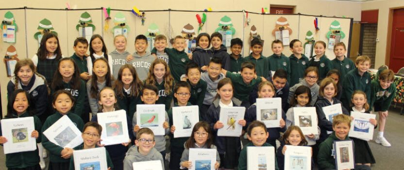 Grade 3 Students Present Their Bird Reports