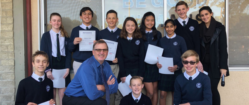 Middle School Students Participate in Math Competition